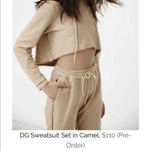 Awesome Danielle Guizio camel sweat suit!